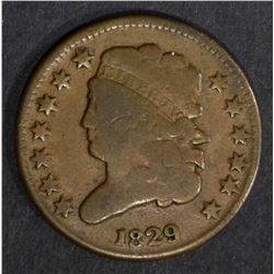 1829 HALF CENT, FINE