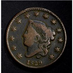1829 LARGE CENT  VG