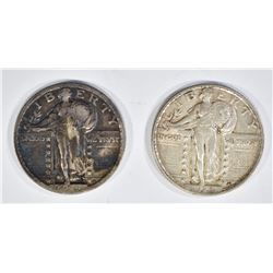 1919 XF & 23 XF STANDING LIBERTY QUARTERS