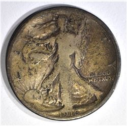 1916 WALKING LIBERTY HALF DOLLAR, GOOD
