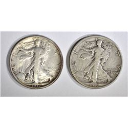 2-1917 WALKING LIBERTY HALF DOLLARS