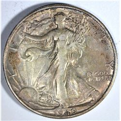 1940-S WALKING LIBERTY HALF DOLLAR, AU