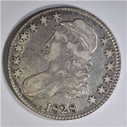 1828 CAPPED BUST HALF DOLLAR, VF/XF