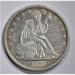 1875-S SEATED HALF DOLLAR, XF