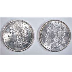 1881-O & 87 CH BU MORGAN DOLLARS