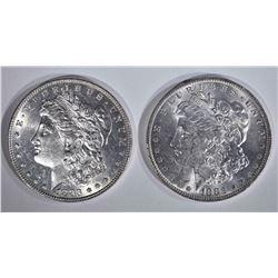 1883 & 83-O CH BU MORGAN DOLLARS