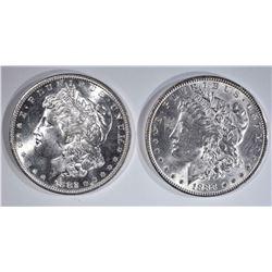 1882-S & 88 CH BU MORGAN DOLLARS
