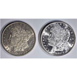 1879-S & 80-S CH BU MORGAN DOLLARS