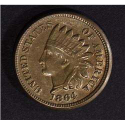 1864 INDIAN HEAD CENT AU/BU