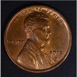 1912-D LINCOLN CENT CH/GEM BU RB