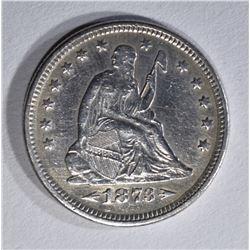 1873 ARROWS SEATED LIBERTY QUARTER XF/AU