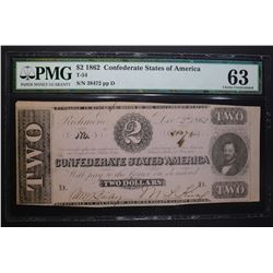 1862 $2 CONFEDERATE STATES OF AMERICA