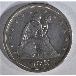 1875-S SEATED LIBERTY TWENTY CENT PIECE  XF-AU