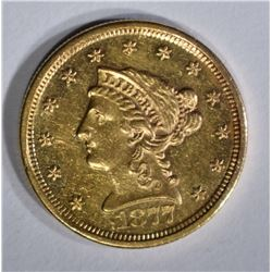 1877-S $2 1/2 GOLD LIBERTY HEAD  BU