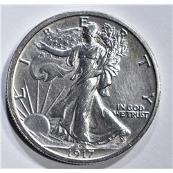 1917 WALKING LIBERTY HALF DOLLAR  CH BU