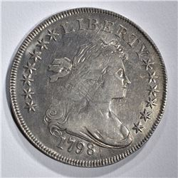 1798 BUST DOLLAR FINE OBV. ADJUSTMENT MARKS