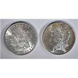 1881-S & 1889 MORGAN DOLLARS BU
