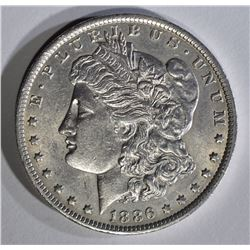 1886-O MORGAN DOLLAR AU++