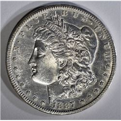 1887-S MORGAN DOLLAR BU CLEANED
