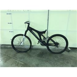 BLACK SPECIALIZED FULL SUSPENSION 21 SPEED MOUNTAIN BIKE NO SEAT