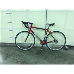 RED AND GREY SPECIALIZED ROUBAIX  20 SPEED ROAD BIKE