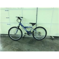 BLUE AND SILVER DUNLOP FS747 SMALL FRAME 21 SPEED MOUNTAIN BIKE