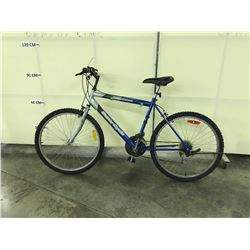 BLUE AND SILVER SUPERCYCLE SC1500 21 SPEED MOUNTAIN BIKE