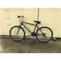 RED INFINITY 21 SPEED FRONT SUSPENSION MOUNTAIN BIKE