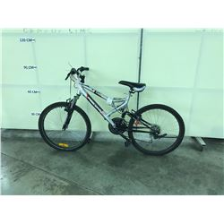 SILVER SUPERCYCLE THRILL 21 SPEED FULL SUSPENSION SMALL FRAME MOUNTAIN BIKE