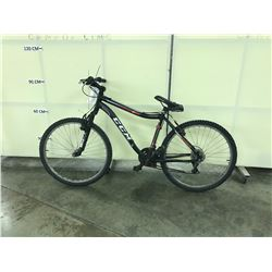 BLACK CCM PRIME 21 SPEED FRONT SUSPENSION MOUNTAIN BIKE