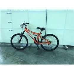 ORANGE NAKAMURA 21 SPEED FULL SUSPENSION SMALL FRAME MOUNTAIN BIKE