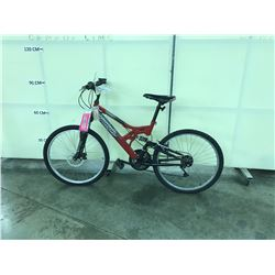 RED TRIUMPH CLIFFHANGER 21SPEED FRONT SUSPENSION MOUNTAIN BIKE