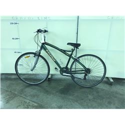 GREEN RALEIGH 21 SPEED FRONT SUSPENSION HYBRID BIKE