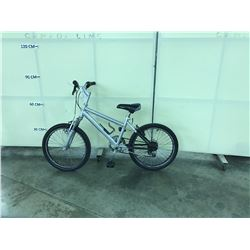 SILVER AND BLACK FRONT SUSPENSION 6 SPEED KIDS BIKE
