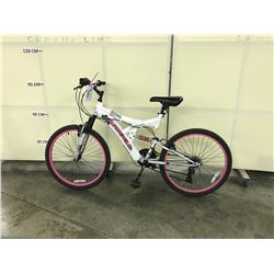 WHITE SUPERCYCLE NITROUS FULL SUSPENSION 21 SPEED MOUNTAIN BIKE