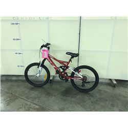 RED CCM FULL SUSPENSION 6 SPEED MOUNTAIN BIKE