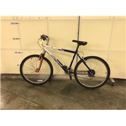 BLUE AND WHITE MURRAY FRONT SUSPENSION MOUNTAIN BIKE