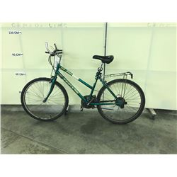 GREEN VENTURE 18 SPEED MOUNTAIN BIKE