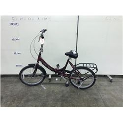 RED SCHWINN FOLDING BIKE 6 SPEED