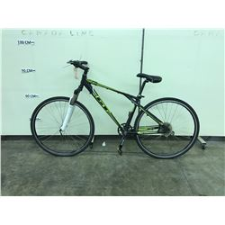 BLACK AND GREEN GT AGGRESSOR 12 SPEED FRONT SUSPENSION MOUNTAIN BIKE