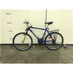BLUE VAGABOND FRONT SUSPENSION 21 SPEED MOUNTAIN BIKE