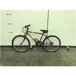 RED HUFFY 10 SPEED SMALL FRAME MOUNTAIN BIKE