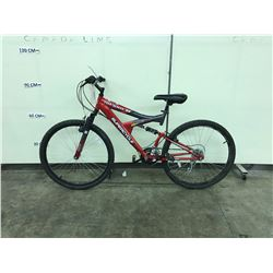 RED SUPERCYCLE NITROUS 21 SPEED FULL SUSPENSION MOUNTAIN BIKE