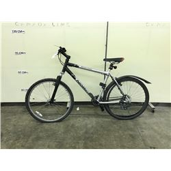 SILVER AND BLACK NORCO BUSHPILOT 21 SPEED FRONT SUSPENSION MOUNTAIN BIKE