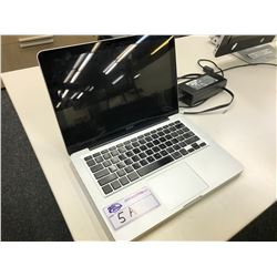 APPLE MACBOOK PRO, 13'', NO HARD DRIVE, NO CHARGER, MODEL A1278, S/N W89100JD7WZ
