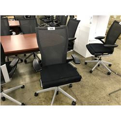 HAWORTH X99 FULLY ADJUSTABLE BLACK TASK CHAIR (SOME DAMAGE TO ARMS)