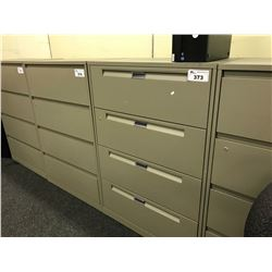 CHARCOAL GREY LATERAL FILE CABINET 4 DR