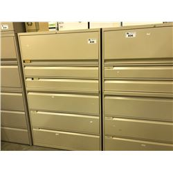 BEIGE TEKNION 6 DRAWER  MULTIFUNCTION LATERAL FILE CABINET