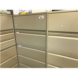 BEIGE TEKNION 5 DRAWER  MULTIFUNCTION LATERAL FILE CABINET