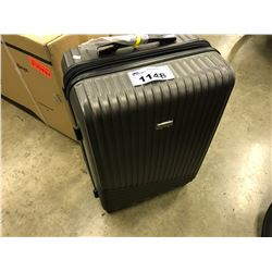 GREY SAMSONITE HARD SHELL SUIT CASE AND QUEEN SIZE MATTRESS